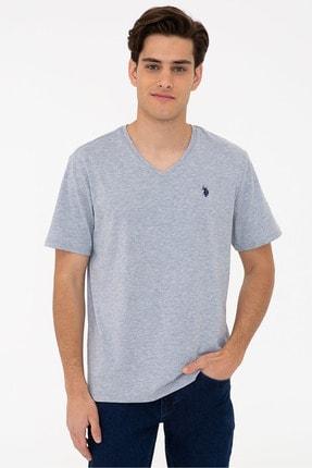U.S. Polo Assn. Grı Erkek T-Shirt