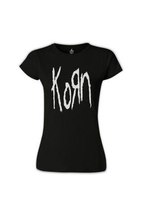 Lord T-Shirt Kadın Siyah Korn Logo Tshirt