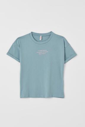 DeFacto Kız Çocuk Sırt Baskılı Kısa Kollu Tişört