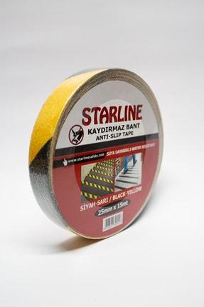 Starline Kaydırmaz Bant Siyah - Sarı 25mmx15mt