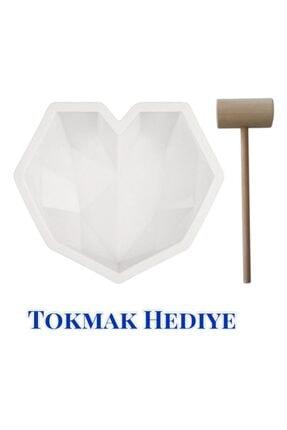 DMS DEKOR Pinyata Elmas Kalp Çikolata Kalıbı + Tokmak