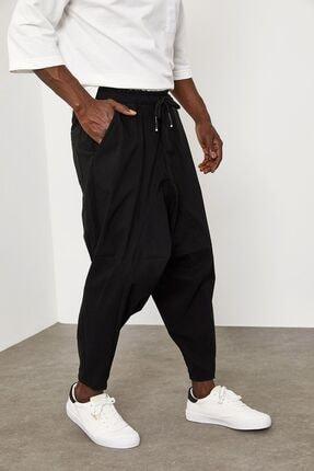 XHAN Siyah Beli Lastikli&bağcıklı Şalvar Pantolon 1yxe5-45103-02