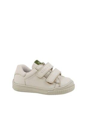kids A more Dream Çift Cırtlı Deri Unisex Çocuk Ayakkabı Bej