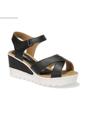 Polaris Kadın Siyah Dolgu Topuk Ayakkabi
