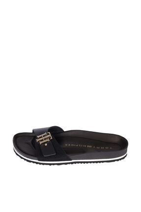 Tommy Hilfiger Kadın Siyah Sandalet Th Molded Footbed Sandal FW0FW05622