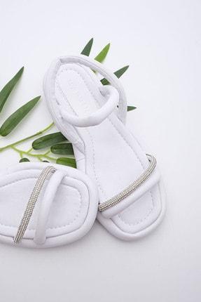 Marjin Kadın Beyaz Pilara  Sandalet