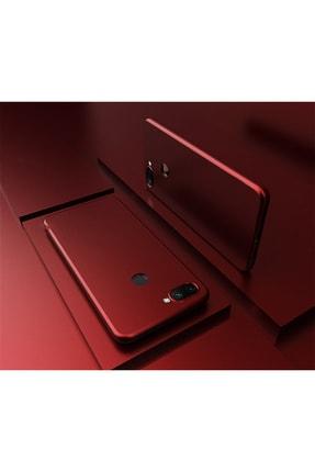 Molly Xiaomi Mi 8 Lite Uyumlu Bordo Mat Silikon Kılıf