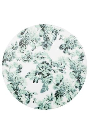 IKEA Beyaz-yeşil Amerikan Servis Meridyendukkan 37 Cm Adet, Çiçek Desenli Sunumluk,servis,plastik