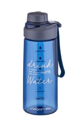 Vagonlife Askılı Su Matarası Filitreli Su Şisesi 670 Ml Mavi