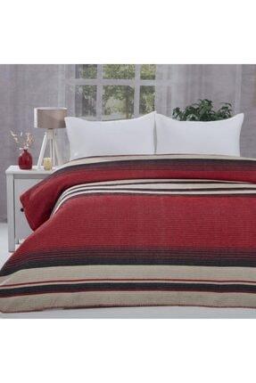 Tekstil Sepeti Kırmızı Dört Mevsim Çift Kişilik Battaniye Pike