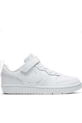 Nike Kids Unisex Çocuk Beyaz Günlük Spor Ayakkabı Bq5451-100 Court Borough Low 2 (psv)