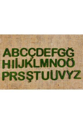 mesart Keçe Harf Büyük Keçe Alfabe Boyut: 5cm Renk: Yeşil