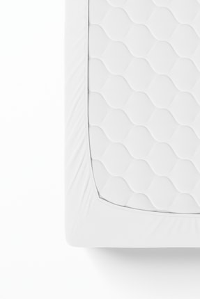 Anemons Tek Kişilik Penye Lastikli Çarşaf - Beyaz