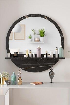 bluecape Yuvarlak Sonata 60cm Aynalı Dresuar Hol Koridor Konsol Duvar Salon Mutfak Banyo Ofis Çocuk Yatak Oda