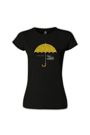 Lord T-Shirt Kadın Siyah How I Met Your Mother Umbrella T-Shirt