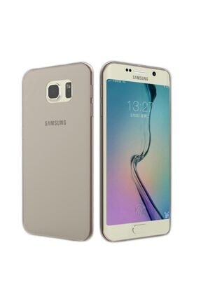 Penguen Samsung Galaxy S6 Edge (g925) Uyumlu Koyu Şeffaf Silikon Kılıf