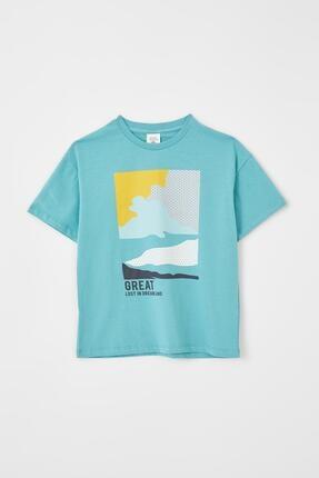 DeFacto Erkek Çocuk Baskılı Kısa Kollu Tişört