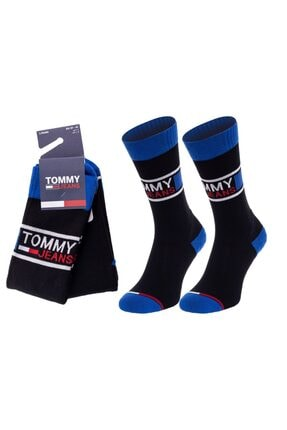 Tommy Hilfiger Erkek Siyah 2 Li Çorap 100000398-003