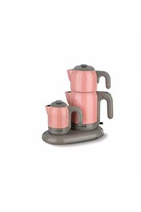 KORKMAZ A353-02 Mia Pembe Çay Kahve Makinesi Pembe/gri