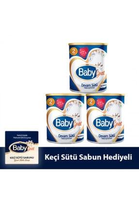 Baby Goat 2 Keçi Sütü Bazlı Devam Sütü 400 gr 3 Lü ( Sabun Hediyeli )