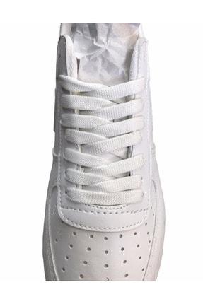 Güneş Spor Ayakkabı Bağcığı 1 Çift Beyaz