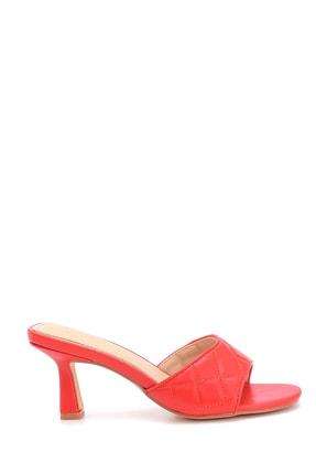 Derimod Kadın Kırmızı Topuklu Terlik