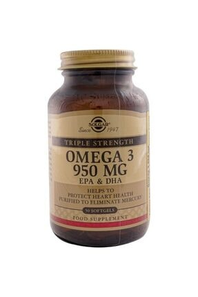 Solgar Omega 3 950 Mg 50 Kapsül