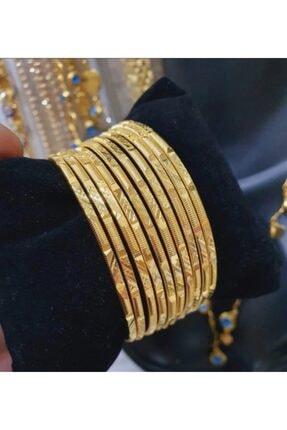 barış gold altın kaplama 22 Ayar Altın Kaplama Desenli Ajda Bilezik