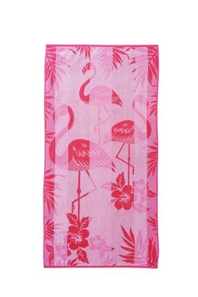 Özdilek Summer Heat Flamingos Kadife Plaj Havlusu 70x140