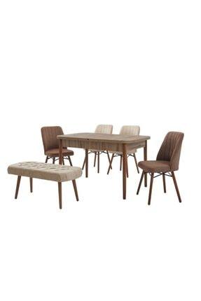 yazgan masa sandalye Banklı Masa Sandalye Takımı Ahşap