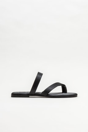 Elle Shoes Kadın Siyah Parmakarası Terlik