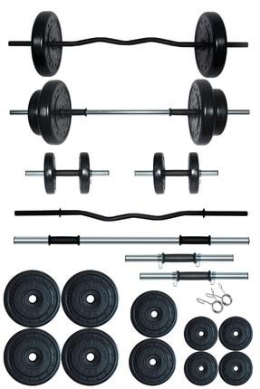 Fitset 68 kg Z Barlı Halter Seti Ve Dambıl Seti Ağırlık Fitness Seti
