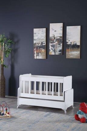 Diverso Home Sallanır Anne Yanı Ahşap Bebek Beşiği Mini Beşik