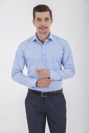 Hatemoğlu Erkek Mavi Slim Fit Gömlek