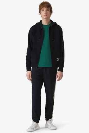 Kenzo Erkek Siyah Fermuarlı Kapüşonlu Sweatshirt