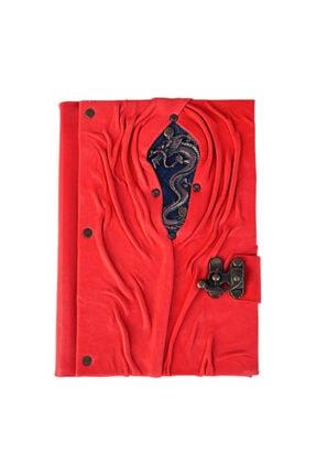 Leathertica Deri Anı Defteri Kırmızı Ejderha 340 S.