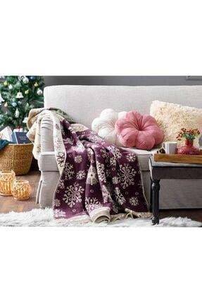 English Home Winter Landscape Akrilik Tv Battaniye 130x170 Cm Mor