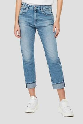 Replay Kadın Mavi Marty Slim Boyfriend Fit Biopack Organic Jeans