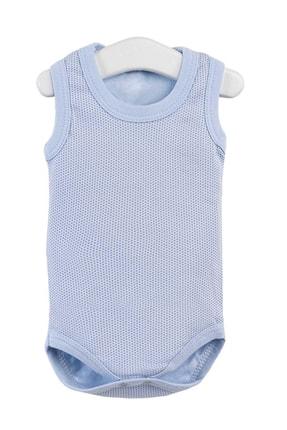 Pattaya Kids Erkek Bebek Mavi Çıtçıtlı Kolsuz Body 0 36 Ay Ptk20s-402