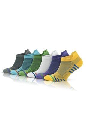 Pallmali Renkli Bambu Kadın 6 Çift Dikişsiz Kısa Patik Çorap 2150