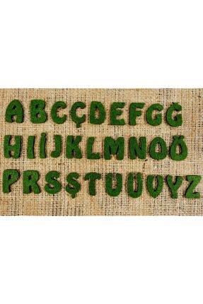 mesart Keçe Harf Küçük Keçe Alfabe Boyut: 3cm Renk: Yeşil