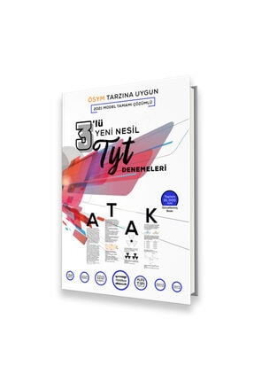 Fragman Yayınları 2022 Tyt Ösym Tipi Yeni Nesil 3'lü Atak Denemeleri Tamamı Çözümlü