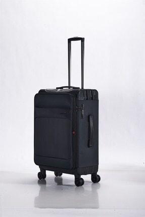 ALBATROS Hibrit Pp+kumaş Valiz Black 24 Orta Boy