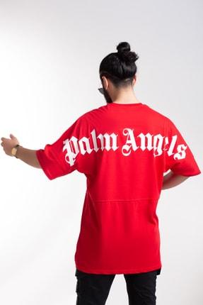 JACKS MAN Kırmızı Palm Angels Oversize T-shirt