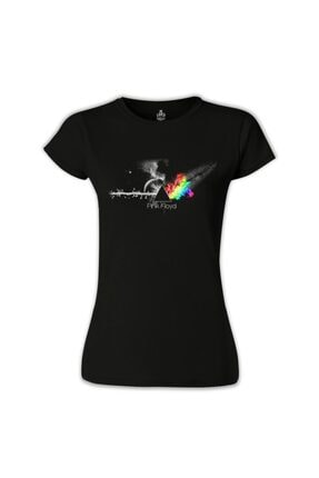 Lord T-Shirt Kadın Siyah Pink Floyd In Clouds T-Shirt