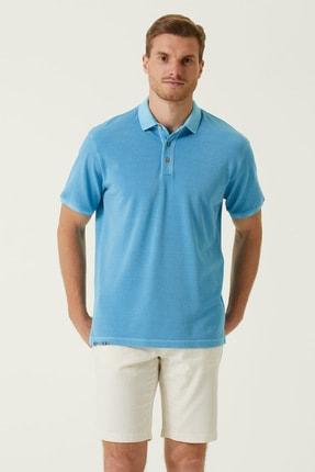 Network Erkek Slim Fit Turkuaz Polo Yaka T-shirt 1078123