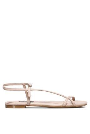 Nine West Kadın Nude Deri Sandalet