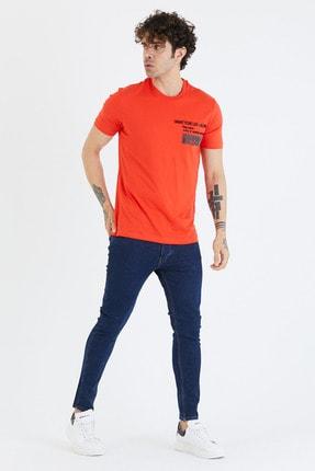 BREEZY Taç Baskılı T-shirt Kırmızı Renk 01221
