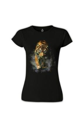 Lord T-Shirt Kadın Siyah Kaplan 2 T-Shirt