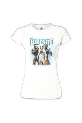 Lord T-Shirt Kadın Beyaz Marshmello Tshirt